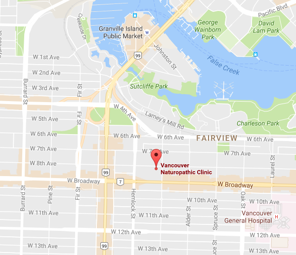 Vancouver Naturopathic Clinic - location map
